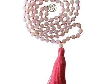 Love Mala Bead Necklace by Kuratif- 108 beads