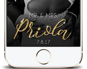 Gold Sparkle Wedding Snapchat Geofilter, Wedding Filter, Snapchat Geofilter Wedding, Custom Wedding Filter, Custom Geofilter