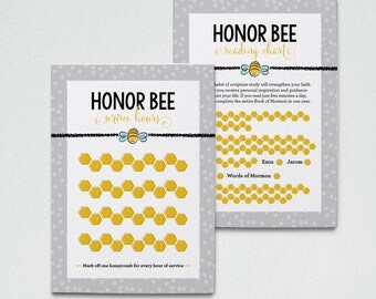 Honor Bee Tracking Cards