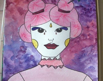Chinese painting 30x40cm - watercolor - style