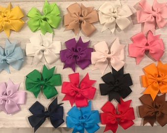 Double Knotted Ribbon Hair Clip for Baby Girl