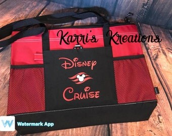 Fish Extender Gift Disney Cruise inspired lightweight bag/tote with zipper