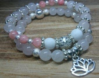 Pretty in Pink - set of two Rose Quartz bracelets
