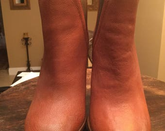 Brown Leather Zara Booties