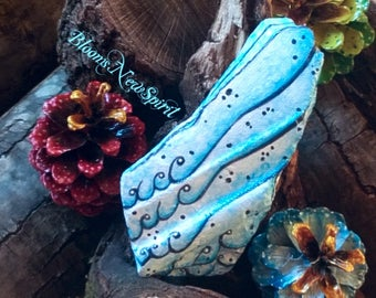 Great wings painted on Pottery piece Unique gift for Him for her Romantic Heavenly Spiritual Friendship