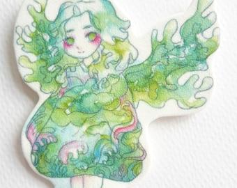 Water Creature Angel Keychain