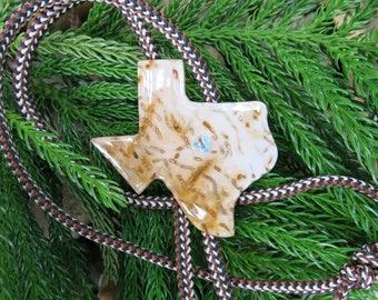 Petrified Palmwood & Topaz Natural Stone Bolo, String Tie, FREE Shipping