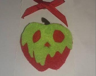 Felt apple brooch