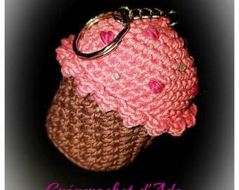 Crochet cupcake Keyring