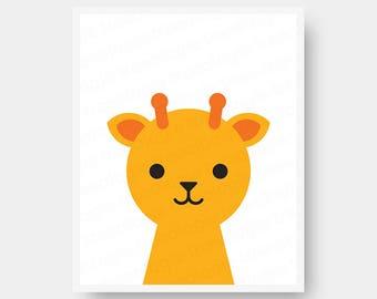 Giraffe Nursery Wall Art Digital Download