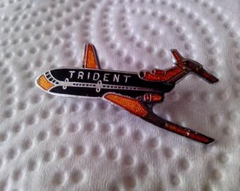 "RARE"" Vintage Trident Air Pin."