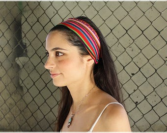Tribal Multi-Color Large Stripped Headband