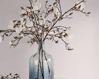 Faux Magnolia Flower Stem