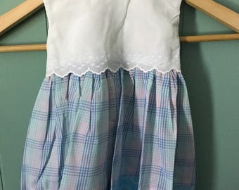 Baby Girls Pastel Plaid Dress