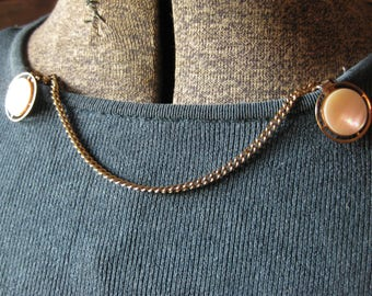 Mother of Pearl Chain Sweater Clip