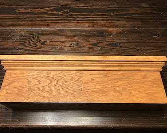 Hidden Compartment shelf (solid oak)