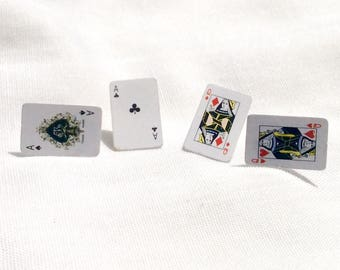 Playing Card Earrings