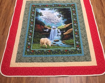 Lap Quilt/Wall Hangin Psalm 23 - Quilt by Barbara