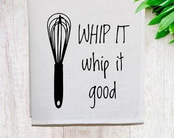 Whip it Good Linen Tea Towel [Off White]