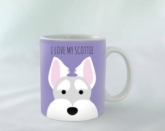 I Love my Scottish Terrier personalised | Different colours available | Custom name mugs | Dog Mug | Scottish Terrier Gift
