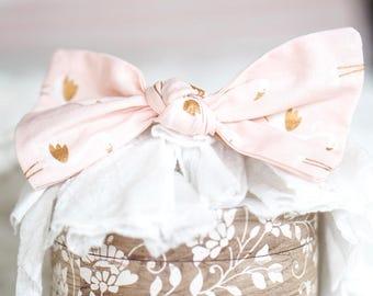 Fabulous Pink Flamingo Knotted Bow Headband