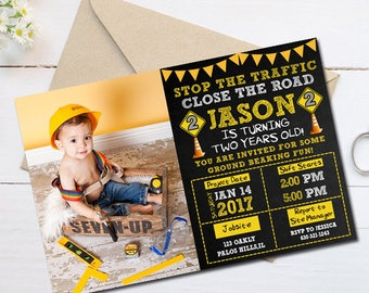 Construction Birthday Invitation, Construction Party Invitation, Construction Invitation, Construction Birthday Party, Construction Birthday