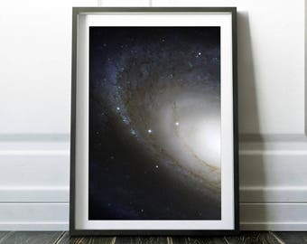 Galaxy print / Space poster / Galaxy art / Outer space art / Universe print / Space art / Hubble telescope / Nasa / Digital print