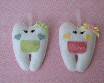 """Pocket tooth milk/storage for milk/Pocket piece """"little tooth"""" tooth /Quenotte tooth"""
