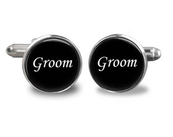 Wedding cufflinks groom cufflinks bridal party cuff links mens cufflinks glass cufflinks silver cufflinks gifts for men