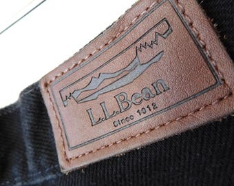 Waist 30 L L Bean Black Jeans Vintage 1990s Mom jeans High waisted High rise Classic fit Relaxed fit 90s jeans