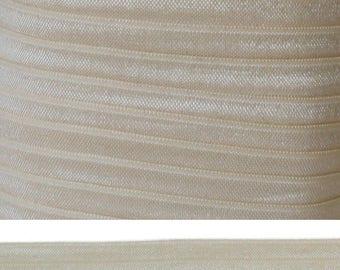 CANDLELIGHT Fold Over Elastic - FOE - 5 Yards - Solid Fold Over Elastic - 5/8 Elastic - Candlelight FOE - Solid Elastic