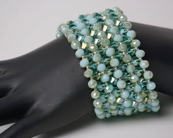 Elegant, Sparkling  Beaded Glass Bracelet