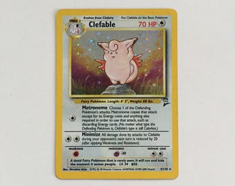 Clefable Holo Pokemon Trading Card