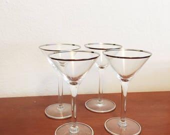 Midcentury Martini glasses