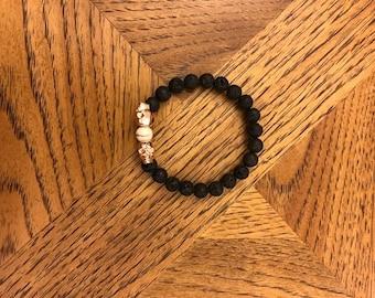 Skull Essential Oil diffuser bracelet