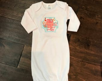 Prayer/Personalized Infant Gown