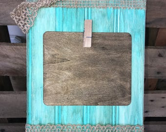 Rustic Teal Photo Frame