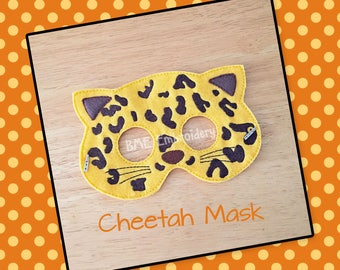 Cheetah Felt Mask- Child's Dress Up and Imaginary Play- Birthday Party Favor-Photo Shoot-Pretend Play-Theme Party