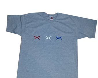 Ax and Rye MADE IN AMERICA Red White and Blue TShirt