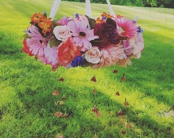 Floral Mobile, Baby Girl Nursery Decor