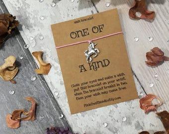 Unicorn Wish Bracelet, Unicorn Bracelet, Unicorn Charm, Unicorn Gift, Fantasy Bracelet, Unicorn Jewellery, Unicorn Present, Unicorn Gift