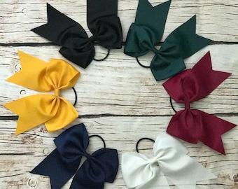 School Hair Bows, Hair Bow, Hair Bows for Girls, Cheer Bows, School Bows, Hair Accessories, Hair Ties