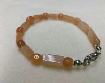 Beaded bracelet Carnelian