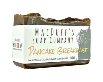 Handmade Soap Bar - Pancake Breakfast  -  Vegan - Shea Butter Soap