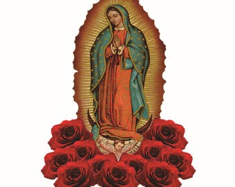 Virgen de guadalupe virgin mary sticker decal calcomania