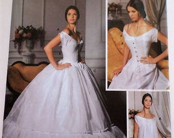Simplicity Pattern 5726 Martha McCain Victorian Civil War Ladies Undergarments Chemise Corset Petticoat Sizes 6-12 Uncut