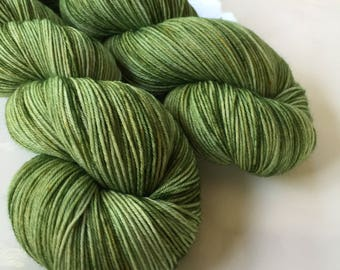 Hand dyed yarn - Always Greener - Moor - 100% superwash merino wool - fingering weight sock yarn