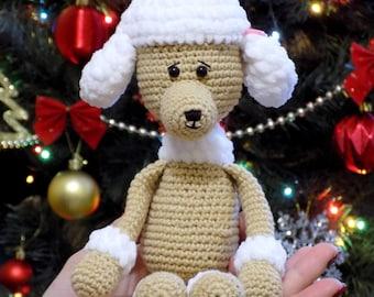 Poodle, Crochet Poodle, Made to Order, Handmade Toys, Stuffed Animals, Amigurumi Poodle, Handmade Crochet Toys, AnniesGurumiStudio