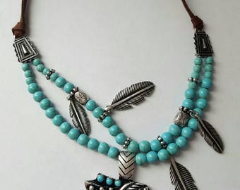 Large native American necklace
