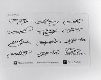 Planner Months Stickers